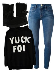 """""""Untitled #464"""" by pound2lafreek on Polyvore featuring Frame and UGG"""