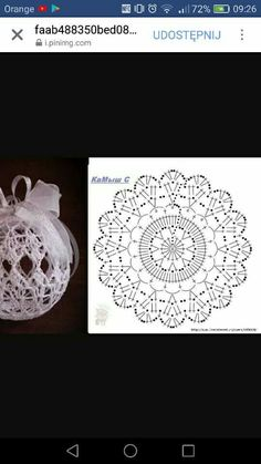 Witam:) To co wczoraj zobaczyłam na swojej tablicy na FB S Crochet Christmas Decorations, Christmas Crochet Patterns, Crochet Decoration, Crochet Ornaments, Holiday Crochet, Crochet Snowflakes, Beaded Ornaments, Christmas Crafts, Crochet Diagram