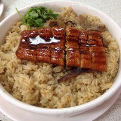#臺灣 #基隆 #海龍珠 #活海產 餐廳 #鰻魚油飯 Grilled #eel #Glutinous oil rice