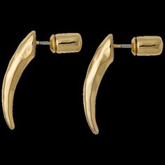 earrings, gold plated