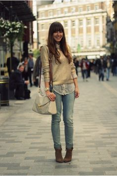 Brown-suede-zara-boots-blue-skinny-levis-jeans-gold-gold-h-m-sweater