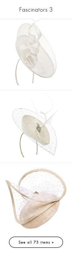 """Fascinators 3"" by royal-fashion ❤ liked on Polyvore featuring accessories, hats, hair accessories, head accessories, women, philip treacy, headbands, fascinators, comb headband and feather hair comb"