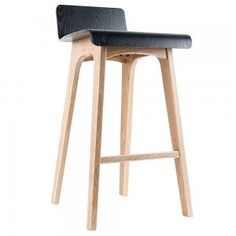 Black Marina Plywood Counter Stool