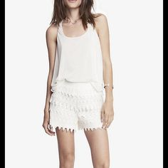 21/2 Inch Crochet Express Shorts It is s S but it perfectly fits an M. Crave-worthy comfort with banded elastic waist. Express Shorts Skorts