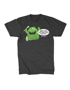 Monster! Monster is a fun shirt that patients will love!  Each shirt will have your logo and URL located on the front and upper-center of the back.  This allows your patients to have a stylish shirt while also advertising for your practice.