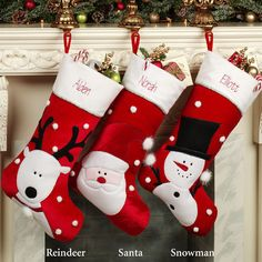 Jolly Reindeer Stocking White/Red