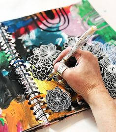alisaburke: a peek inside my process- working in layers Art Journal Prompts, Art Journals, Junk Journal, Journal Ideas, Alisa Burke, Good Relationship Quotes, White Pen, Sketchbook Pages, Complimentary Colors