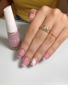 65 happy valentines day nails for your romantic day page 24 Crazy Nails, Love Nails, New Nail Designs, Finger, Feet Nails, Luxury Nails, Gorgeous Nails, Simple Nails, White Nails
