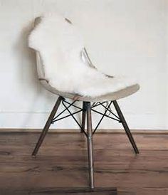sheep skin on eiffel chair - - Yahoo Image Search Results