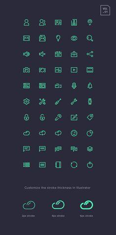 Free download Stroke Gap Icons Set Vol.1