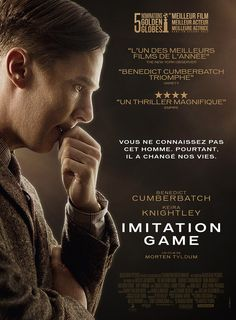 Imitation Game French publicity poster. This time Benedict Cumberbatch basically playing an early computer Holmes.