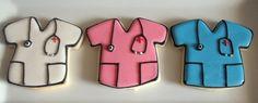 Scrubs doctor/nurse stethoscope cookies