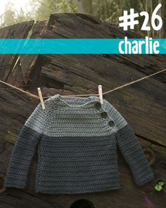 Color block crochet baby pullover from 100 Baby Sweater Patterns