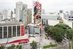 Epic: Oscar Niemeyer tribute mural in Sao Paolo