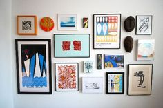 How To Create a Gallery Wall on a Budget ApartmentTherapy 1: Select frames create a diagram  with layout options.Step 2: Purchase frames  IKEA Ribba frames in a variety of sizes  3: Hang frames. Lay out the collage on the floor adjacent to the wall.Need: measuring tape, a level, a hammer, hooks & a pencil to hang frames. 4: Collect art/fill frames with pieces you love. Get structure up first and get art over time.