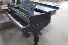 Steinway & Sons patent grand piano, ebonized overstrung scale, pat dates 1859, 1872, 1876, and 1878 - Realized Price: $6,037.50