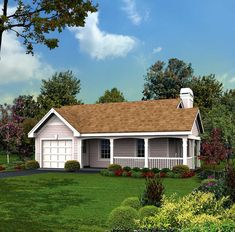 This lovely Cottage style home with Small House Plans influences (House Plan has 480 square feet of living space. The 1 story floor plan includes 1 bedrooms. Small Cottage House Plans, Small Cottage Homes, Family House Plans, Country Style House Plans, Ranch House Plans, Small House Plans, House Floor Plans, Small Homes, Cottage Plan