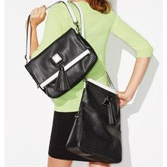 NEW AVON MARK CUT OUT FOR IT COVERTIBLE PURSE/BAG RV $36 ~STILL IN PACKAGE~BLACK #Avon #ShoulderBag