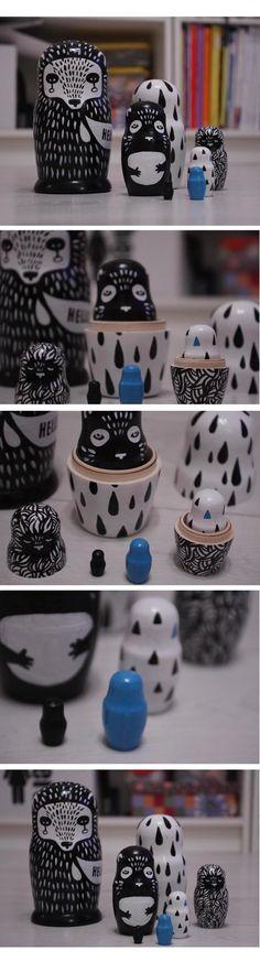 Matryoshka dolls by Svetlana Lomakina, via Behance