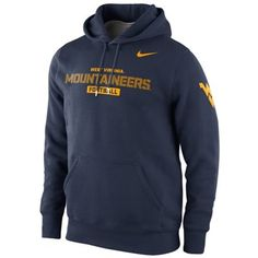 4f7f0974f2 Nike West Virginia Mountaineers Practice Classic Hoodie - Navy Blue