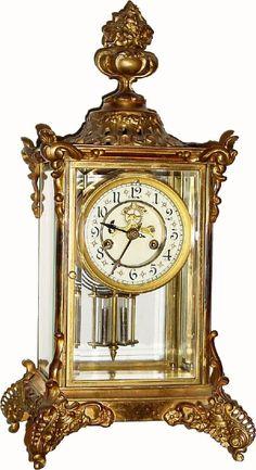 "Antique Clocks | Antique Waterbury Clock Company ""Avignon"" Model Clock"