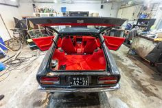 1974 Grey Datsun for sale in amazing Red Leather interior. Datsun For Sale, Datsun Car, Antique Restoration, Amazing Red, Leather Interior, Red Leather, Classic Cars, Magic, Japanese