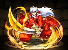 Inuyasha and his demon sword, Tetsusaiga in fire flames Inuyasha Funny, Inuyasha Fan Art, Inuyasha And Sesshomaru, Kagome And Inuyasha, Kagome Higurashi, Tattoos Anime, Anime Base, Susanoo, Hanabi