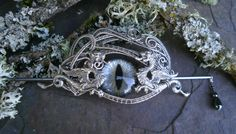 Gothic Steampunk Hair Barette with Dragons by twistedsisterarts, $99.95