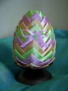 Easter egg Quilted Ornaments, Handmade Decorations, Easter Eggs, Handmade Ornaments