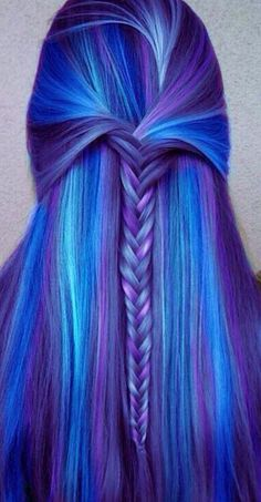 A little fish braid in the most gorgeous blues