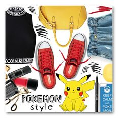 """""""Pokemon"""" by stylemoi-offical ❤ liked on Polyvore featuring CellPowerCases, Stila, Prescriptives, Topshop, NARS Cosmetics and Pokemon"""