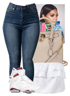 """Bri-❤️‍‍❤️‍"" by desirayebae ❤ liked on Polyvore featuring MICHAEL Michael Kors and NIKE"