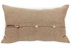 Burlap Lumbar Pillow