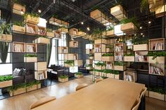 The Modular Design of this Beijing Cafe Offers a Constant Supply of Fresh Air #eco trendhunter.com