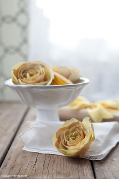 Lia Griffith | Sunny Yellow Paper Ranunculus to Welcome in Spring