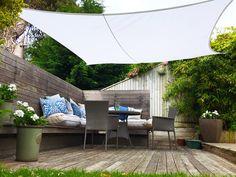 Clara Shade Sail Pure White Waterproof Sun 98% UV Premium 3.6m Square Garden Canopy & Kookaburra Charcoal Waterproof Shade Sail - 4m x 3m Rectangular ...