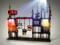 U2 Zoo TV stage in Legos