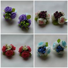 МК букетик с розами из фома на заколке или резиночке.