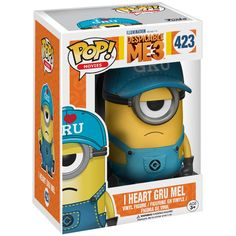 Funko Pop Movies Despicable Me 3 I Heart Gru Mel Minion 423 Walmart for sale online Gru Minion, Despicable Me 3, Pop Figurine, Funko Pop Toys, Cool Pops, Pop Characters, Gaming Merch, Film D'animation, Marvel