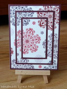 #stampin up #triple layer card #Mixed Bunch