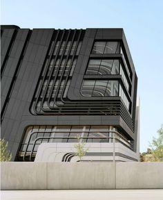 Futuristic Architecture: Learning Center by Zaha Hadid - Design Milk Architecture Design Concept, Facade Design, Futuristic Architecture, Amazing Architecture, Architecture Details, Exterior Design, Interior Architecture, Geometry Architecture, Chinese Architecture