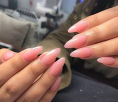 36 Natural Nails Design Ideas For Long Almond Nails – Red Unicorn Black Almond Nails, Short Almond Nails, Almond Acrylic Nails, Almond Shape Nails, White Nails, Nail Pink, Black Nail, Natural Nail Designs, Aycrlic Nails