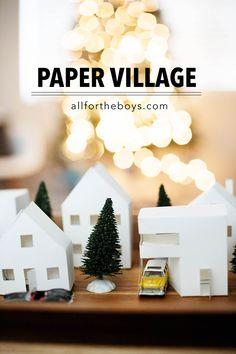 Paper village - links to free printables