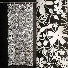 Adorn your bare walls and windows with this fresh-in-the-sight paper flower curtain.