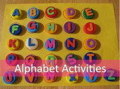 Matching lettered bottle tops to lettered circles on the paper. Fun activity to make with children
