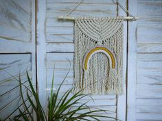 Duha- macramé, dekorace na zeď Dream Catcher, Wreaths, Boho, Handmade, Home Decor, Homemade Home Decor, Dreamcatchers, Hand Made, Door Wreaths