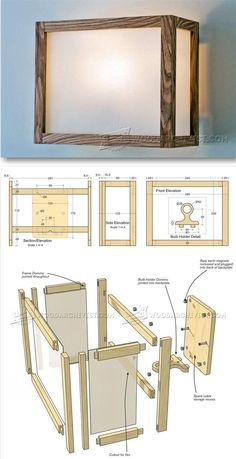 DIY Wall Light - Woodworking Plans and Projects | WoodArchivist.com