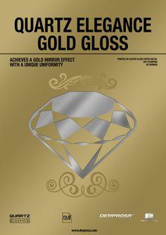 QUARTZ Elegance Gold Gloss: Achieves a #gold mirror effect with a unique uniformity. http://www.derprosa.com/puntos/quartz-elegance-gold-gloss-en/…