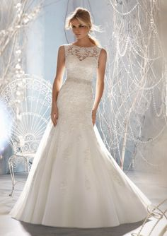 Terence Bridal Store Luxury Vestidos Noiva Little Mermaid Open Back Beaded Belt Wedding Dress White $159.00