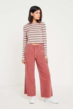 BDG Skater Pink Corduroy Jeans | Urban Outfitters | Women's | Corduroy Collection #UOEurope #UrbanOutfittersEU